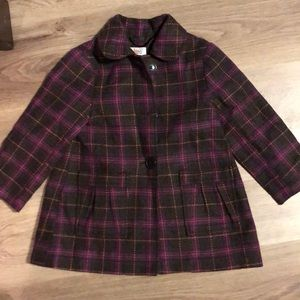 3T plaid peacoat
